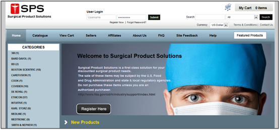 Surgical Product Solutions template