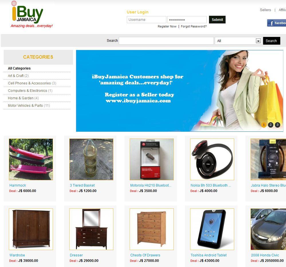 iBuyJamaica.com product list