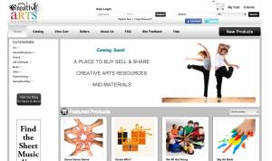 Creative Arts Exchange website screenshot
