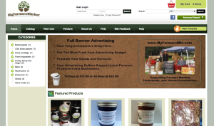 My Farmers Market website screenshot