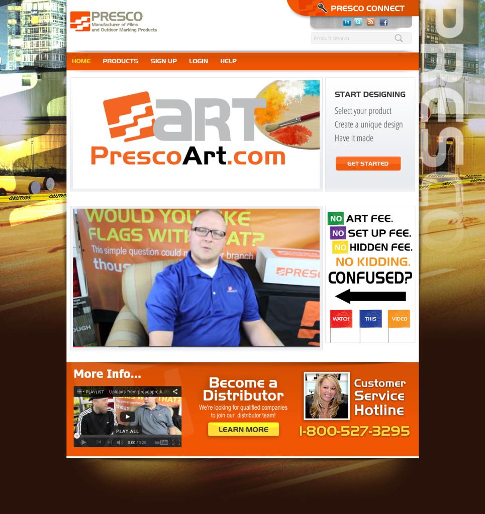 Presco website screenshot