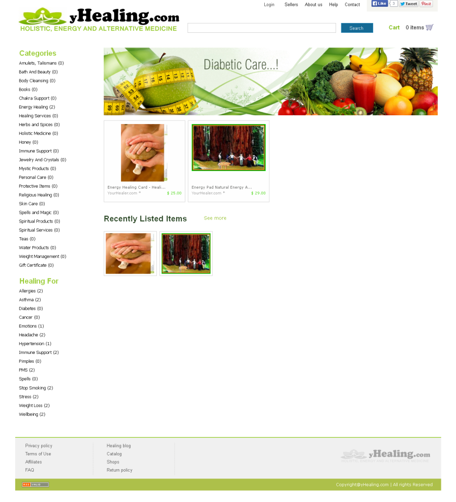YHealing website screenshot
