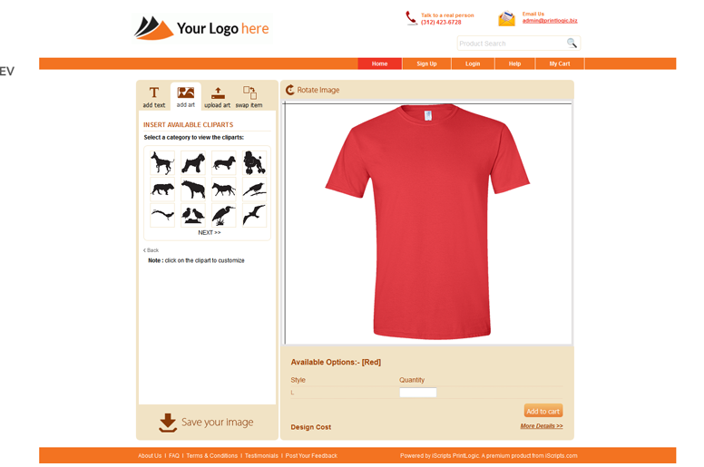 45db10ed Instead of starting from scratch with just an idea, you will create a site  with the same professionalism as CustomInk or Vistaprint, but instead, ...