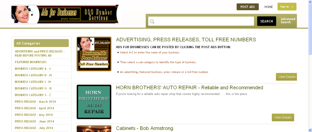 tricities website screenshot