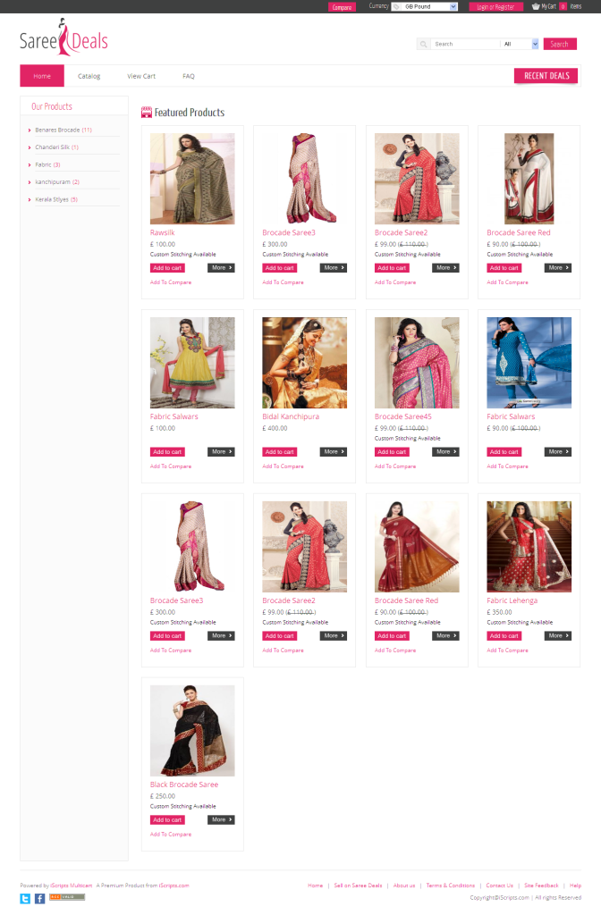 Saree Deals -online store builder