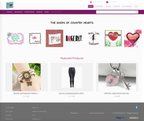 online marketplace website product