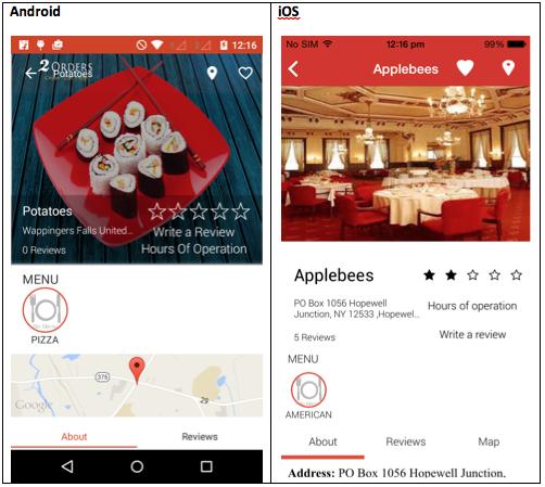 Restaurant order app