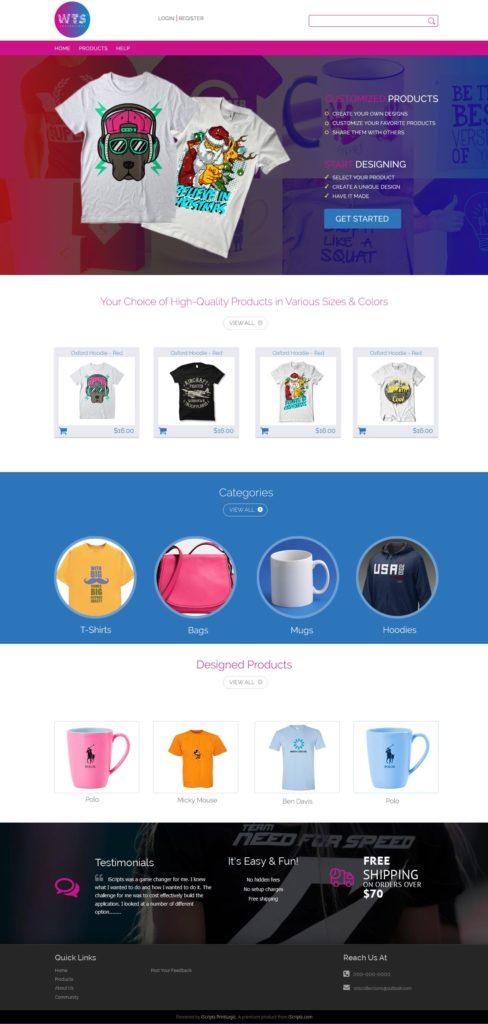 online tshirt printing software