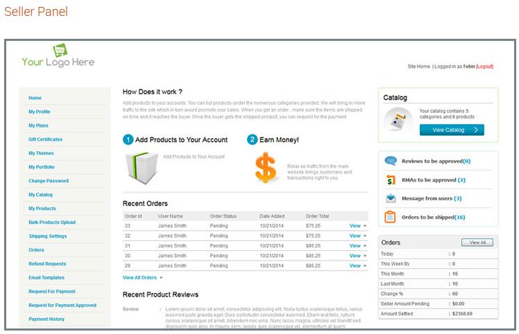 E-commerce Seller Panel - iScripts MultiCart