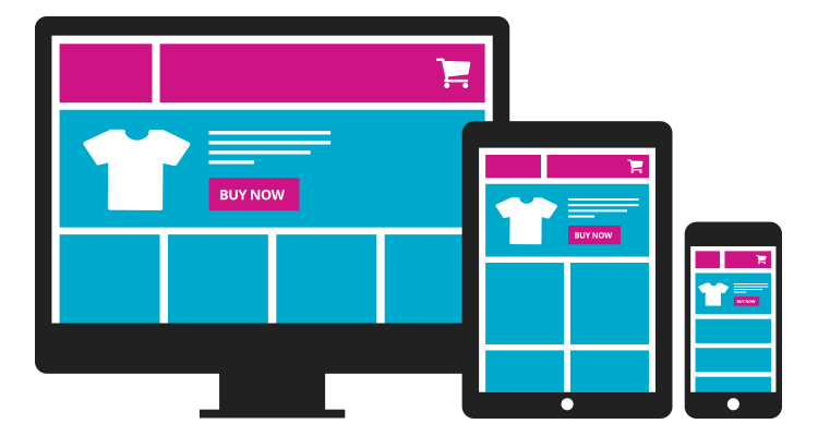 online shopping store website responsive view