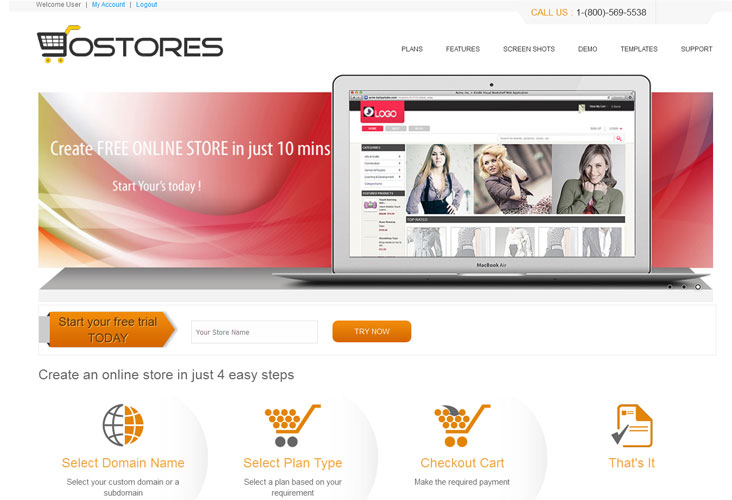 iScripts GoStores website