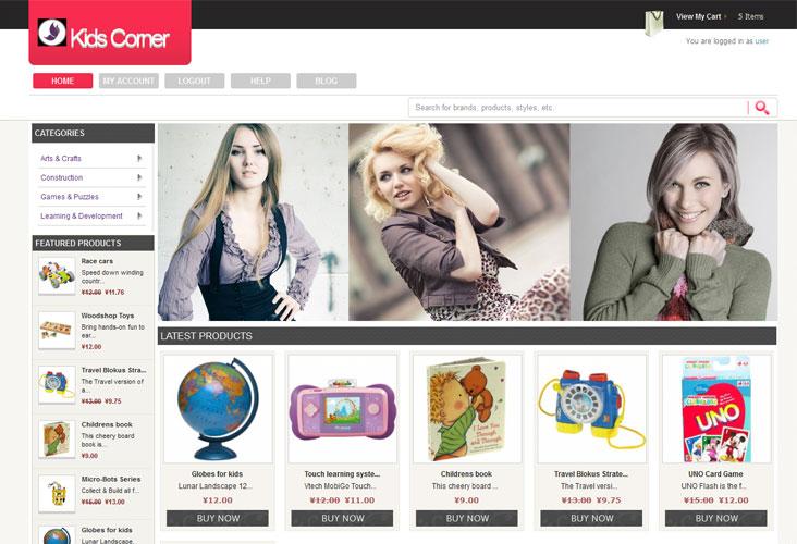 iScripts gostores-Kidscorner website
