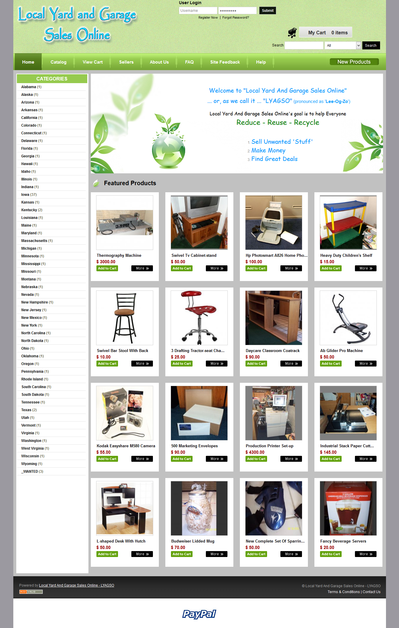 Local Yard and Garage Sales Online