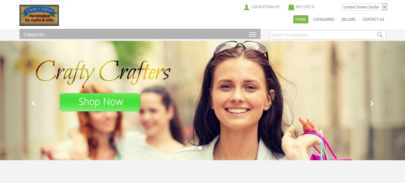 CraftyCrafters.com website screenshot