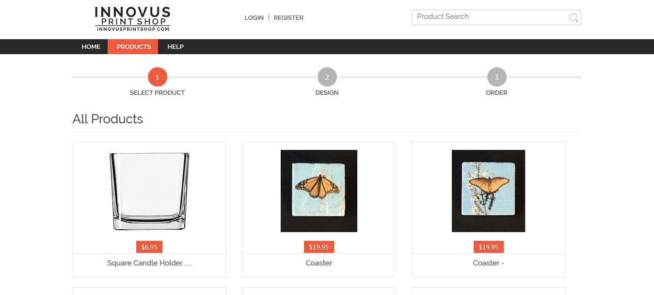 InnovusPrintShop.com website screenshot
