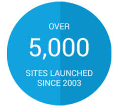 Over 5000 sites launched since 2003
