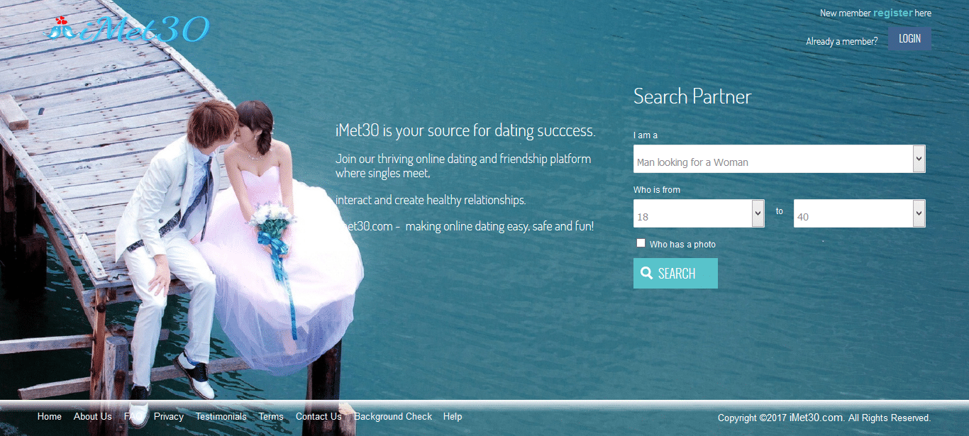 iMet30 partner search page