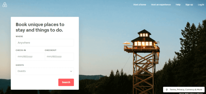 Airbnb - Online Accomadation Booking Website Working