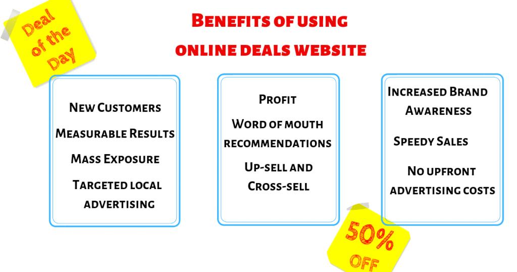 Benefits of using online deals website